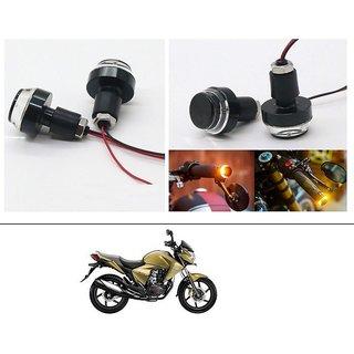 AutoStark 2X Motorcycle DRL/Turn Signal LED Light Blinker Indicator Handle Bar End For Honda Dazzler