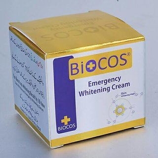 BIOCOS EMERGENCY WHITENING CREAM.PACK OF 6 PCS