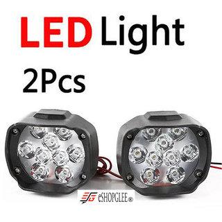 Bike / Motorcycle 9 LED Headlight Driving Fog Spot Light 2 PCS