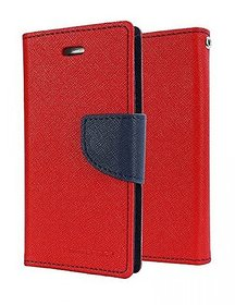 Mercury Goospery Fancy Diary Wallet Flip Cover for LENOVO K8 NOTE -RED