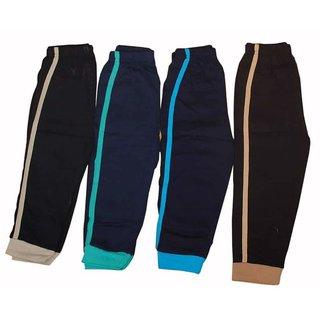Boys Narrow Elastic Hosiery Night Pant (Set of 4)