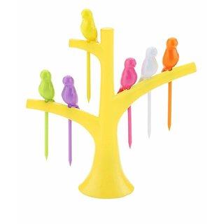Honest  Multicolor   Fancy Plastic FRUIT FORK (BUY 1 GET 1 FREE) Set Of 2 Fruit Forks