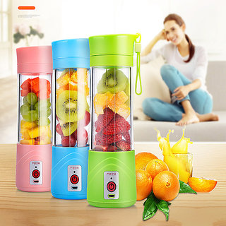 Portable Blender USB Juicer Cup - SUMGOTT Juicer Machine with USB Charger Fruit Mixing Machine