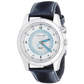Sonata Analog Silver Dial Mens Watch - NB7067SL04