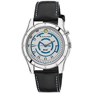 Sonata Analog White Dial Mens Watch - NB7067SL06