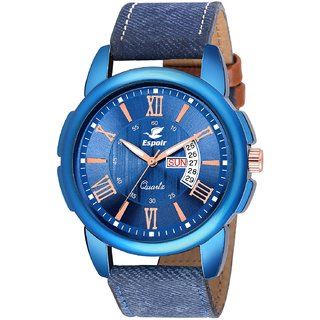 Espoir Analogue Stylish Blue Dial Day and Date Men's Boy's Watch - BlueRay 0507