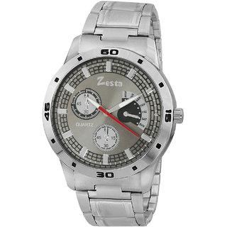 Zesta 14 Analog Watch Men Casual Metal Strips Quartz Wrist Watch Boys Fashion Round Dial Adjustable Wristwatch