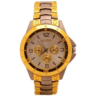 Rosra Round Dial Brown Analog Watch for Men