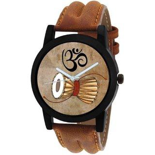 HRV Brown Shiv Damru Watch