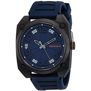 Fastrack Analog Blue Dial Mens Watch - 38031PP02J