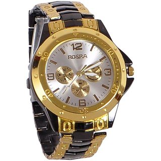 Rosra Round Dial Silver Analog Watch for Men