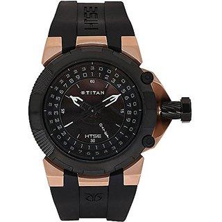 Titan Htse Analog Black Dial Mens Watch - 1539KP02