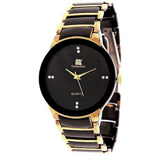Iik Collection Round Dial Black Analog Watch for Men