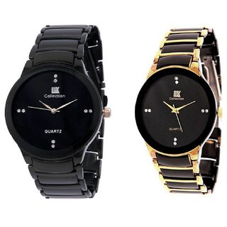 IIK Collection Stylish Casual Watches For Mens- Combo of 2 by japan 6 month warranty