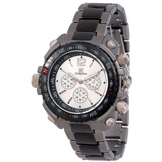 Iik Collection Round Dial Silver Analog Watch for Men