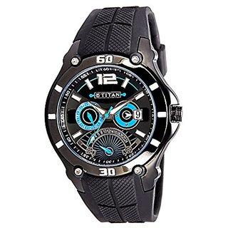 Titan Octane Analog Black Dial Mens Watch - 9246NP01