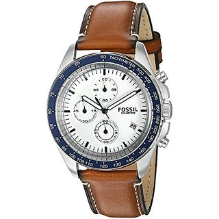 Fossil Chronograph White Dial Mens Watch - CH3029
