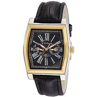Titan Classique Analog Black Dial Mens Watch - NC1555BL02