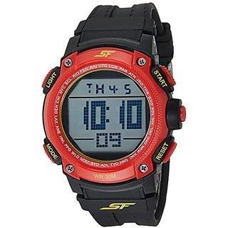 Sonata Digital Grey Dial Mens Watch-77073PP01