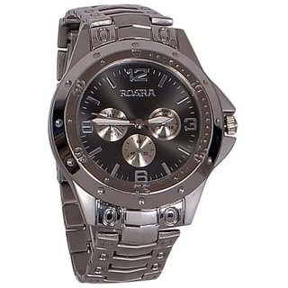 Rosra Round Dial Black Analog Watch for Men