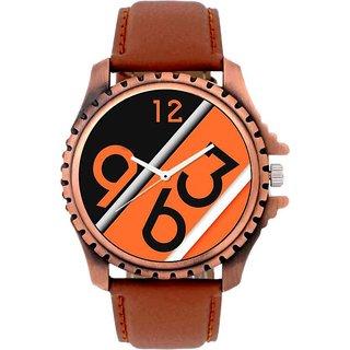 HRV Orange Print Best new look Brown Belt Men Watch