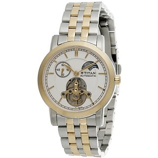 Titan Automatic Analog White Dial Mens Watch - NC9365BM01J