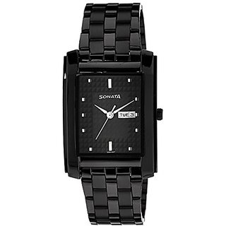 Sonata Analog Black Dial Mens Watch-7953NM02J
