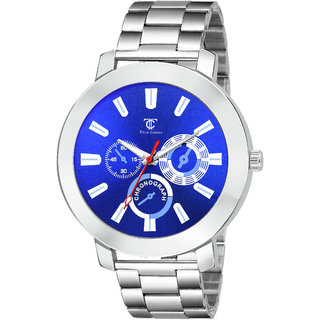 True Colors Men Silver Stainless Steel Strap Analog Watch For Men Watch