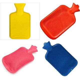 Rubber Bottle Cold  Hot Water Bag Body Heat Massage Pain Relaxing Treatment. Colors As Available.