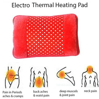 Premium Electric hot water bag Heating pad of velvet and fur with hand pocket(Assorted color)
