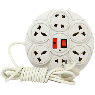 Extension Board / Power Strip 6 Amp 8 Plug Point