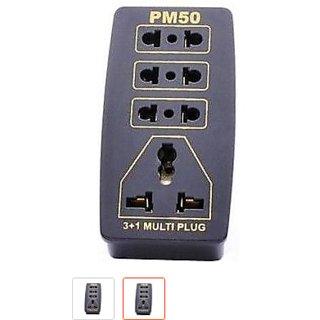 PM 50 Universal Adaptor 3+1 Multi Plug Socket - 1 pc