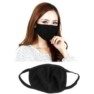 HMS - BLACK ANTI POLLUTION  DUST PROTECTION  FACE MASK ( SET OF 2)