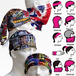 Unisex Multi Color Headwear Bandana