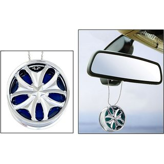 Alloy Wheel Car Hanging Air Freshener Gel Perfume For Car, Home, Office