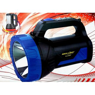 Rock Light 40 Watts Heavy Battery Led Laser Torch Cum High Quality Ultra Bright Emergency Light (2 in 1 Product)