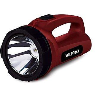 wipro branded emerald rechargeable torch 5watt.