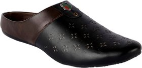 Shoeson men's black/brown slip-on loafers