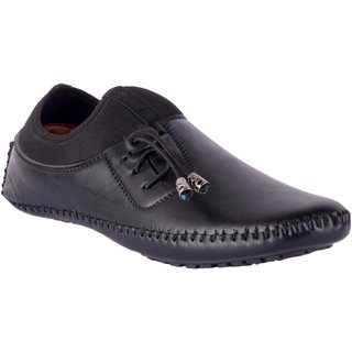 Shoeson men's black slip-on loafers