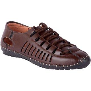 Shoeson men's brown lace-up sandals