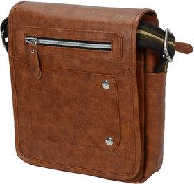 URBANITY Leather Men Messenger Bag  Sling Bag (Tan)