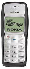 Refurbished Nokia 1100 Black Single SIM 1 inches(2.54 cm) Monochrome graphic Display (1 Year Warranty By Warranty Plaza)
