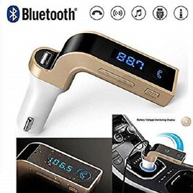 SNAPCLES CARG7 LCD Bluetooth Car Charger FM Kit MP3 Transmitter USB Handsfree Mobile