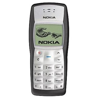 Refurbished Nokia 1100 Black Single SIM 1 inches(2.54 cm) Monochrome graphic Display (1 Year Warranty By Warranty Plaza)