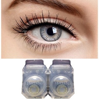 Crystal Eye Monthly Zero Power Light Grey Contact Lens and Multi Plus Solution with Storage Box