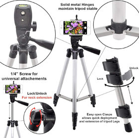 3110 Fordable Tripod with Mobile Clip Holder Bracket, Fully Flexible Mount, Stand with 3D Head  Quick Release Pl