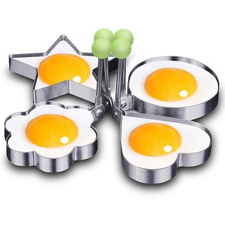 U.S.Traders Stainless Steel Fried Egg Mold Non Stick Omelette Pancake Rings Cooking Tools, Any 1 Pice, Silver