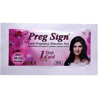 PREG SIGN Early Pregnancy detection test kit-pack of 5