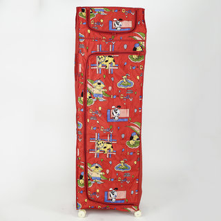 MDN Baby 6 Shelves Folding Wardrobe Plastic (Red)