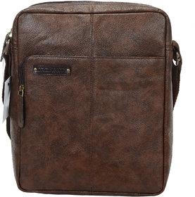 URBANITY Leather Men Messenger Bag  Sling Bag (Brown)